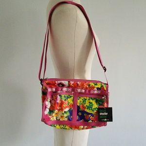 NWT LESPORTSAC tropical floral print shoulder bag